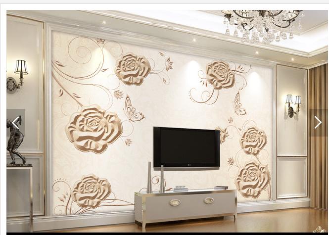 3D Emboss Flowers 764 Wall Paper Murals Wall Print Wall Wallpaper Mural AU Kyra