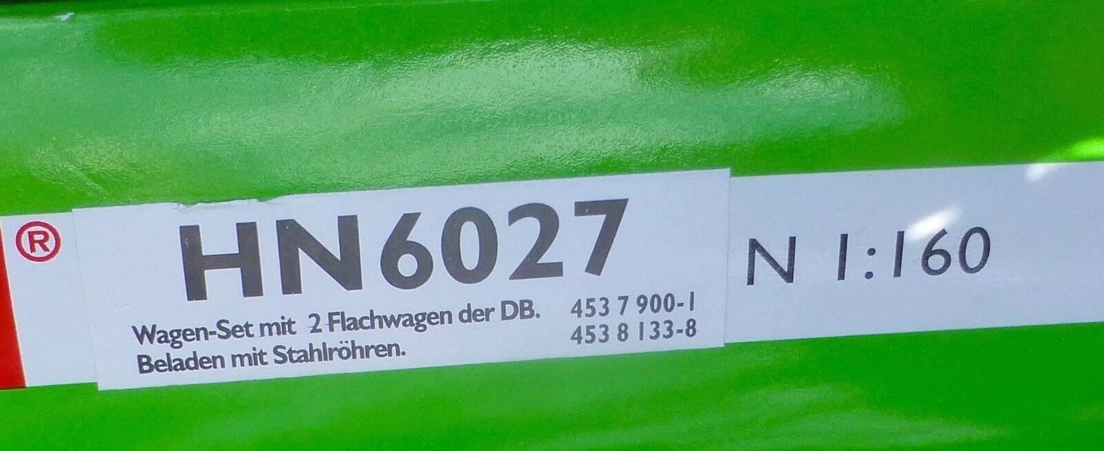 2 2 2 Wagon Plat Chargé M Mannesmann Wagons Tubesd'Acier Db Arnold HN6027 N 1 160 e44189