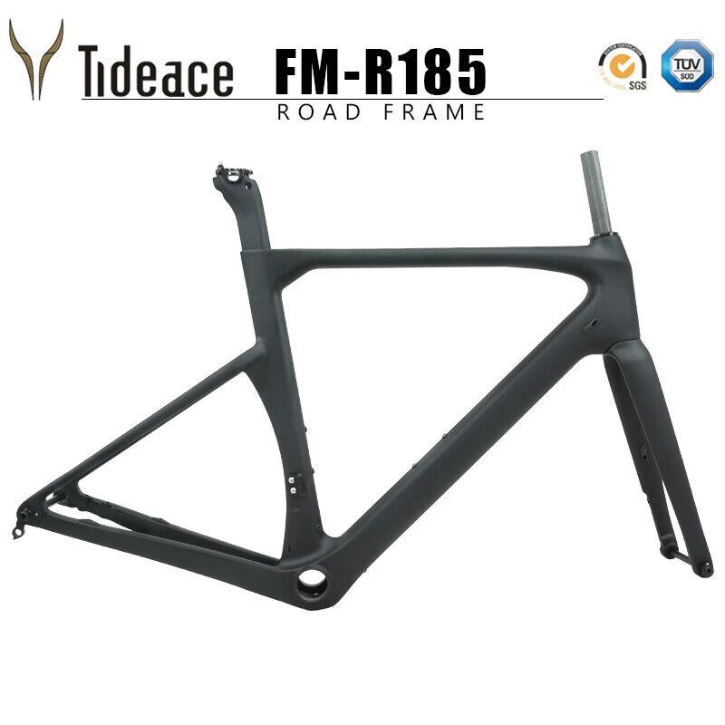 Cadre de vélo de course sur route, frein à disque 140mm, 12  142mm Carbon Frame