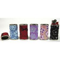 Bic Mini Lighters Case/jacket Floral Glitter 9168