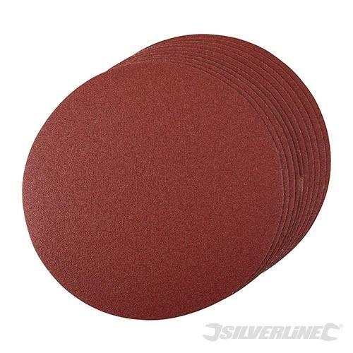 Silverline ~ 250 mm Velcro Meules 80er Grain 10er Conditionnement 224522