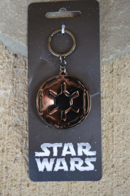 Star Wars 7 Movie Imperial Key Chain Black Gunmetal Licensed Force Awakens