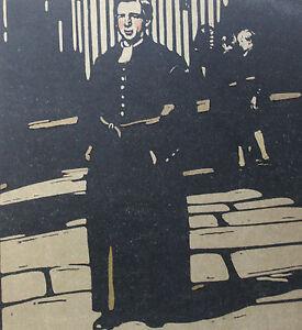 """William Nicholson 1898 Types de Londres London Les écoliers au vêtements bleus - France - LITHOGRAPHIE ORIGINALE EN COULEURS DAPRS LES BOIS GRAVÉS PAR WILLIAM NICHOLSON 1898 (Paris, Floury) EXTRAITE DE L'OUVRAGE """"LES TYPES DE LONDRES"""" 1898 (imprimé 600 exemplaires sur vélin fort et 40 sur Japon) 1 FEUILLE 34 x 28 CM. LITHO 25,5 x 2 - France"""