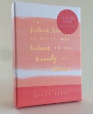 KIKKI K Be Brave Boxed Set - 12 Planner Quote Cards with Stand, Rose Gold Foil