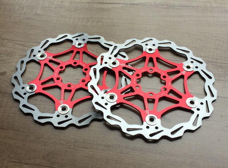 2  SNAIL redors Brake Disc Floating redor 160 180 203mm MTB AM XC DH bike Red  best choice