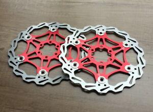 2-SNAIL-Rotors-Brake-Disc-Floating-Rotor-160-180-203mm-MTB-AM-XC-DH-bike-Red