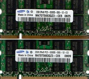 NEW 4GB Memory PC2-5300 SODIMM For Acer Extensa 5510 2x2GB