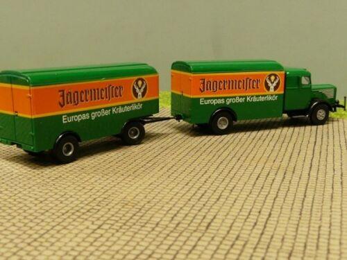 1//87 Brekina Büssing 8000 Jägermeister colección Reinhardt hängerzug