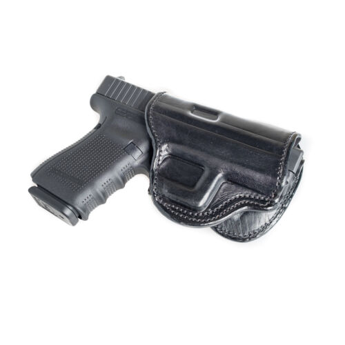 OWB LEATHER PADDLE WITH ADJUSTABLE CANT. PADDLE HOLSTER FOR KIMBER SOLO 9MM