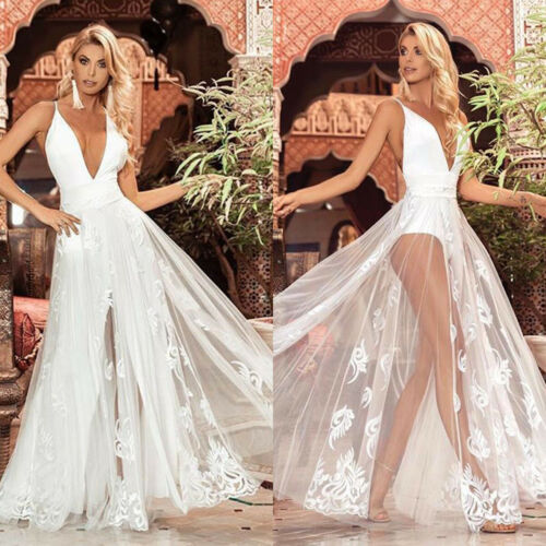 Women Formal Wedding Cocktail Evening Ball Gown Party Prom Bridesmaid Dress HOT