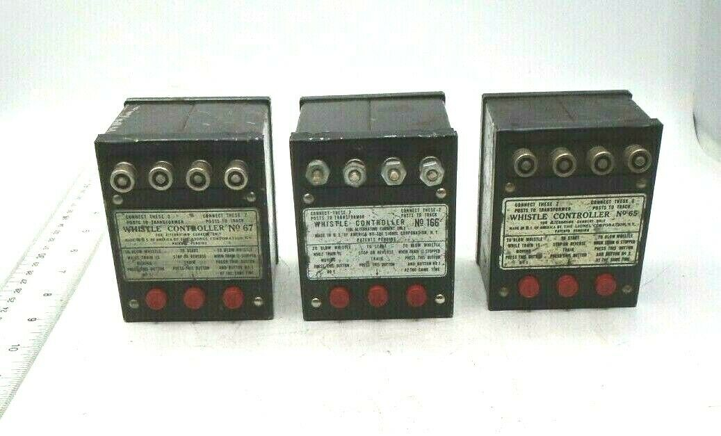 Lionel Whistle Controller Lot of 3 No. 65, 67, 166 Vintage Free Shipping