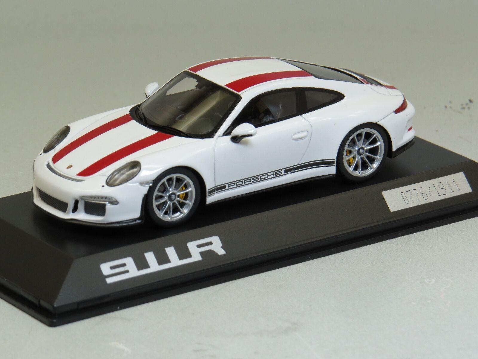 Spark 1  43 Porsche 911R (991) vit   röd 1911pcs begränsad IAA 2016 WAP0201460J