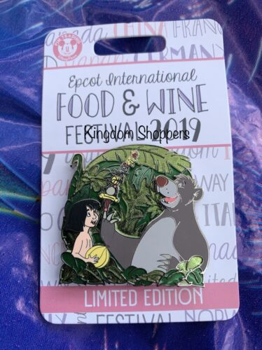 Disney Epcot Food /& Wine Festival 2019 The Jungle Book Baloo Mowgli Pin LE