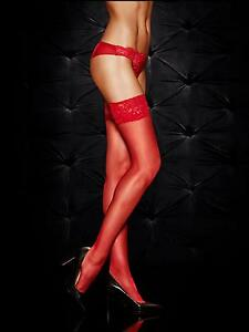 f08541ba4a6 Ann Summers Womens Ladies Lace Top Glossy Hold Up Sexy Hosiery ...