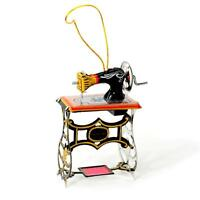 Tin Toy Sewing Machine Christmas Tree Ornament 3 Retro Vintage Style Craft