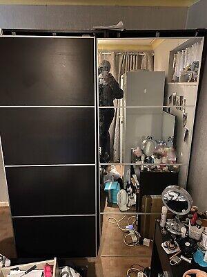 Ikea Pax Double Wardrobe With Sliding, Ikea Pax Double Wardrobe With Mirror Doors