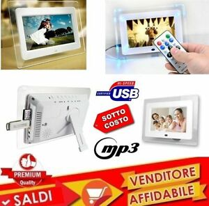 Frame Digital 7 Inches Usb Photo Video Mp3 Jpg Sd Card With Remote