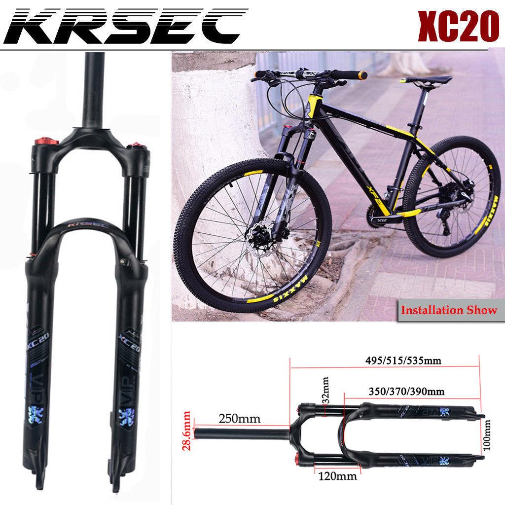 Amortiguador Suspensión Horquillas krsec absorder Cerradura Manual Aire Bicicleta MTB Tenedor 26 27.5 29