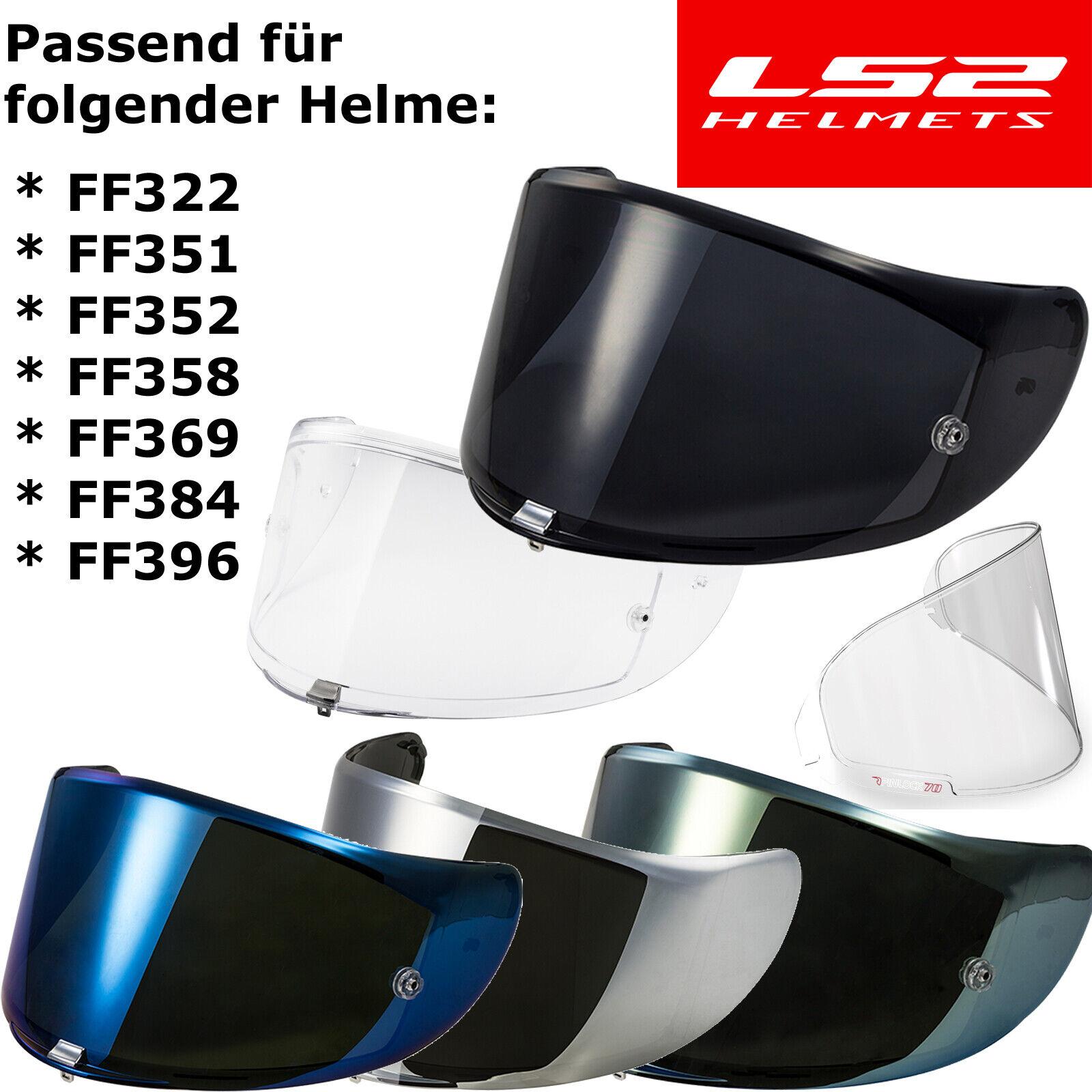 FF384 klar Pinlock vorbereitet FF352 LS2 Visier für Helm LS2 FF351 FF369