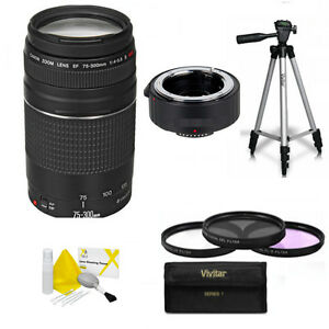 Details about Canon EF 75–300mm + 150-600mm TELEPHOTO ZOOM LENS FOR CANON  EOS REBEL T5 T5I T3
