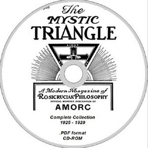 ROSICRUCIAN-magazine-THE-MYSTIC-TRIANGLE-complete-collection-CD-ROM-occult