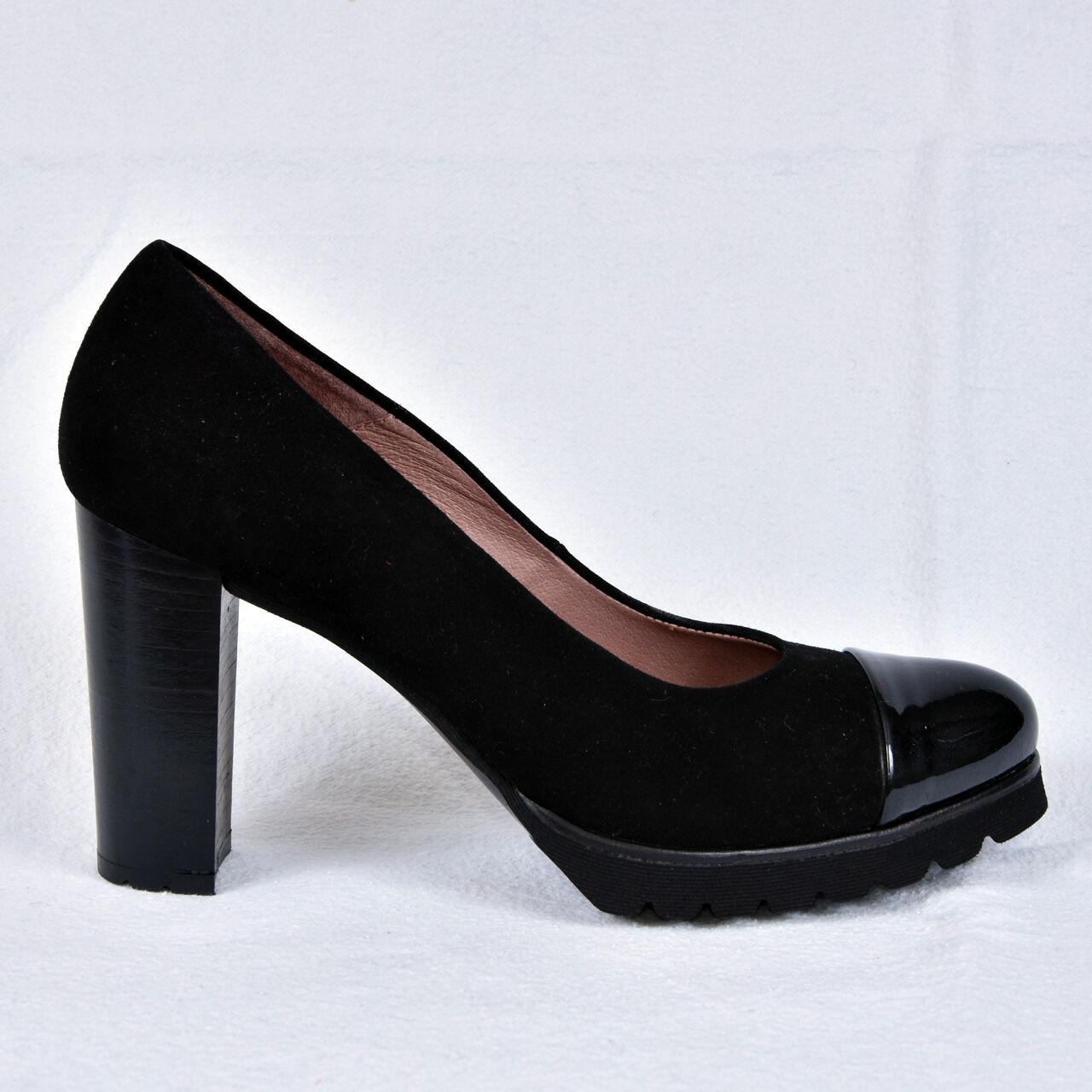 vendita online NEW Gadea DA DONNA PUMPS PLATEAU PLATEAU PLATEAU nero tacco alto pelle taglia 38 Scarpe  nuovo stile