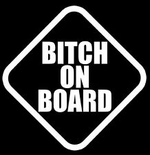 Bitch On Board funny decal sticker,JDM,Hellaflush,FREE SHIPPING
