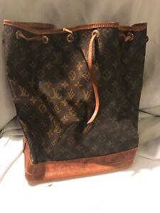 Image Is Loading Authentic Vintage Louis Vuitton Drawstring Bucket Bag Zoe