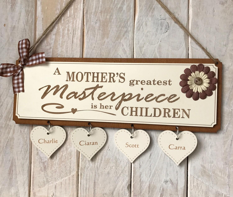 Placa Grabada Regalo Personalizado Regalo Regalo Regalo Día de las madres madres obra maestra 675381
