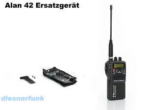 CB-HAND-FUNK-ALAN-42-als-Ersatzgeraet-4-WATT-AM-FM-Geraet-Batterieleerpack-Tasche