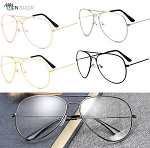 19b4275ec7 Classic Clear Lens Pilot Tear Drop Glasses Men Women Designer Gold ...