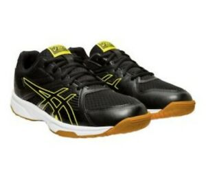 Asics-Upcourt-3-MEN-039-S-Volleyball-Shoes-Black-Sour-Yuzu-NEW