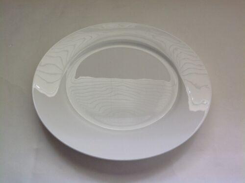 New Gorham Breckenridge White Dishwasher Microwave Safe 10 Inch Dinner Plate