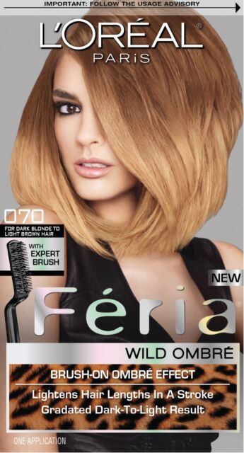 L Oreal Feria Wild Ombre Hair Color O70 Dark Blonde To Light Brown