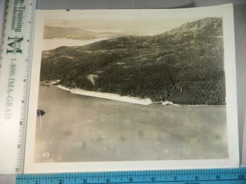 Rare Historical Original VTG Landing Strip On Cordova Alaska Photo