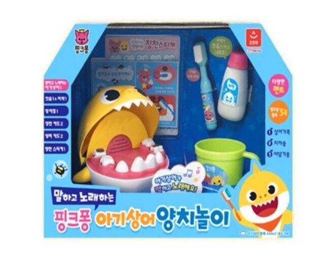 rosadofong hablando & cantar bebé cepillado de dientes de tiburón Juego Juguete para Bebé Niños