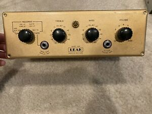 Rare Vintage Leak Point One Mono Tube Preamplifier Untested As Is Mullard EF86