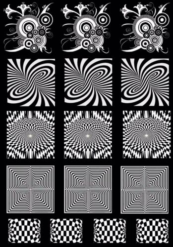 """Optical Illusions  5/"""" X 3-1//2/"""" Card White Fused Glass Decals 17CC134"""