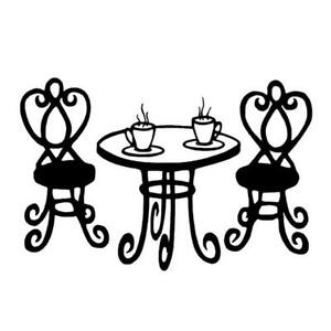 Cafe Table French UNMOUNTED Rubber Stamp Tea For Two Paris - Paris cafe table