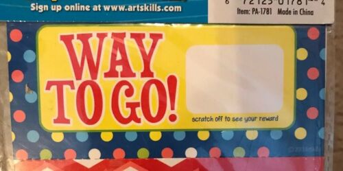 "Art Skills Make Your Own Scratch Off Rewards ""Way To Go"""
