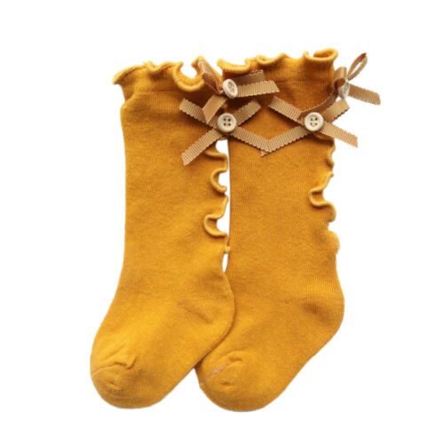 1-5Y Baby Kid Girl Bow Tights Socks Spanish Romany Cotton Knee High School Socks