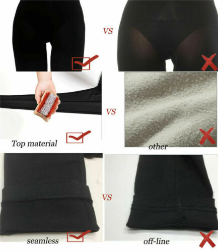 Details about  /US Slimming Legging High Waist Elastic Tight Tummy Control Panties Trouser Black