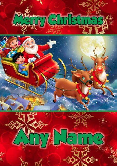 PERSONALISED CHRISTMAS CARD CHILDREN GIRLS BOYS SON DAUGHTER GRANDSON NEPHEW
