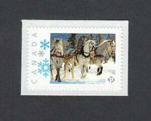 HORSES = picture postage personalized stamp MNH Canada 2014   p5sn3