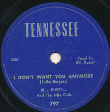 78 15BB - HILLBILLY - TENNESSEE 797 - BILL RUSSELL And The Night Owls