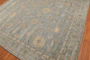 Old-Hand-Made-Grey-Traditional-Nain-Floral-Zieglar-Oriental-Wool-Area-Rug