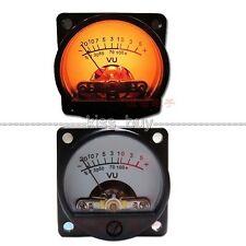 1pcs 500μA 630Ohm Analog Panel VU Meter Audio Level Meter 6-12V Warm Back Light