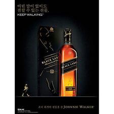 JOHNNIE WALKER BLACK  KOREAN POSTER 18 BY 26