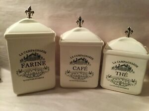 L2-Maison-American-Atelier-Complete-Coffee-Canister-Set-French-Theme-EUC