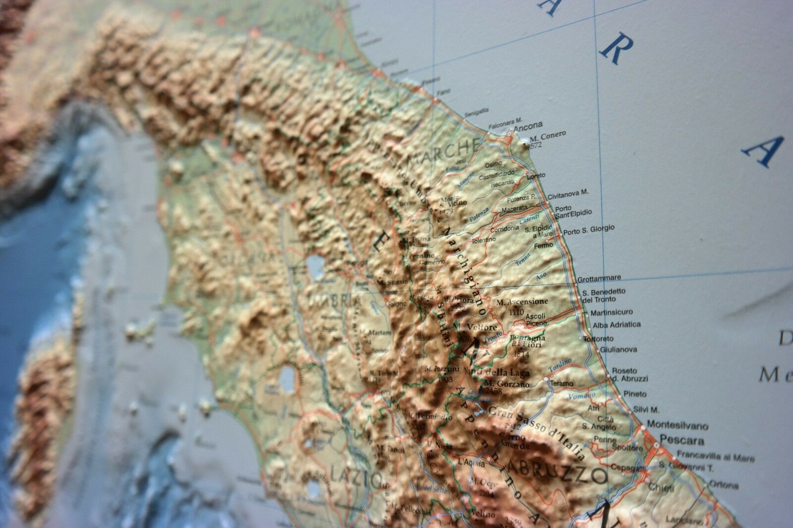 ITALIA CARTA IN RILIEVO   GLOBAL MAP MAP MAP 0858fb